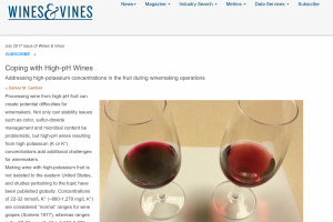 Coping with High pH Wines & Vines
