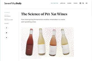 Screen shot of the seven-fifty daily article about pet-nat wines