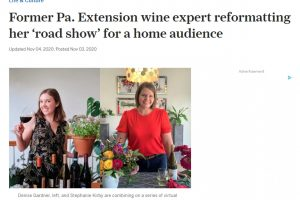 Bottle & Blooms article featuring Denise Gardner and Stephanie Kirby