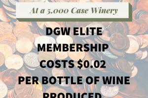 DGW costs $.02 per bottle of wine