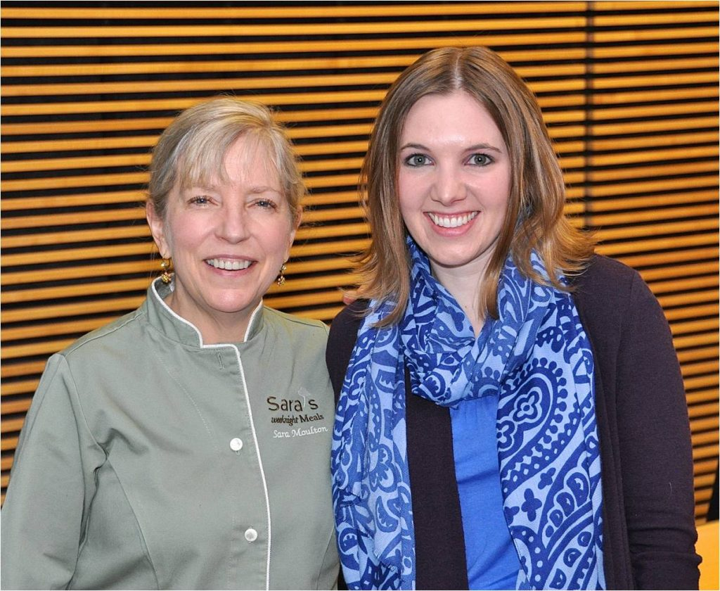 Chef Sara Moulton and Denise Gardner