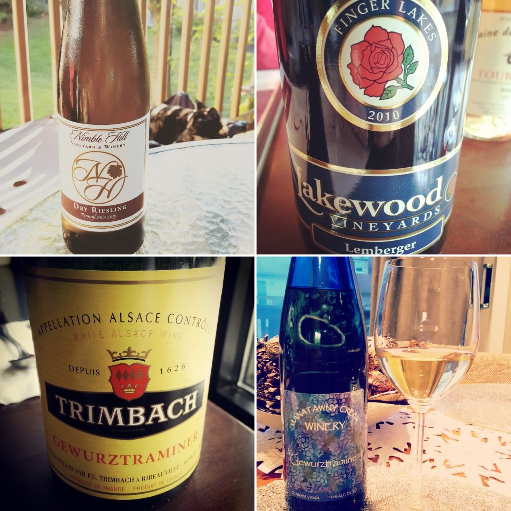 four of denise's wine pairing selections