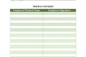 Group Employee Record Template